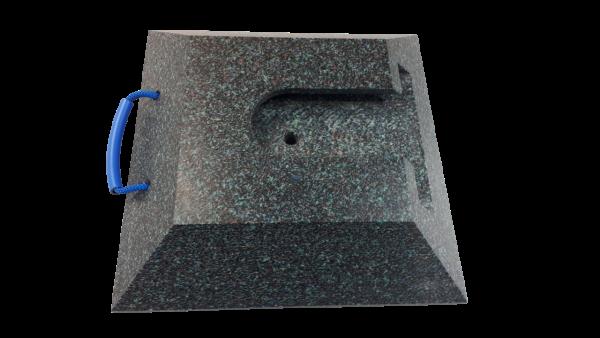 Stecktellerplatte quadratisch 80 / 100 mm Höhe