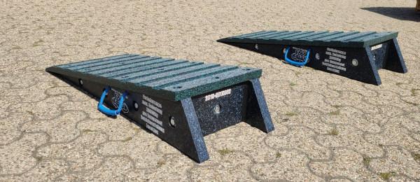 Auffahrrampe Set 1000 x 400 x 200 mm mit Kippschutz