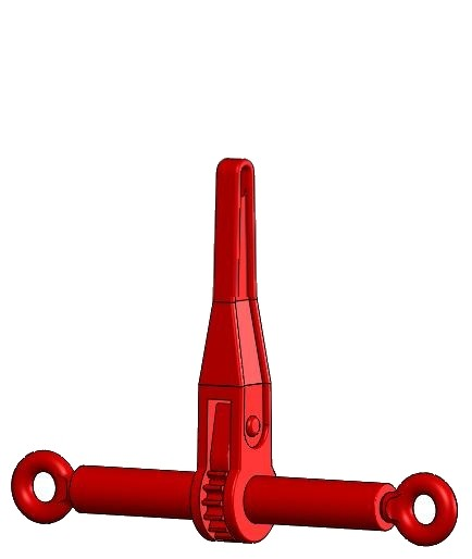 Ratschenlastspanner mit Ösen, Güteklasse 8, 8 mm - kurzer Hebel