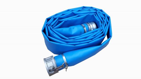 Flexibler Schlauch 75 mm mit Camlock, 7,6 m für Catchbag