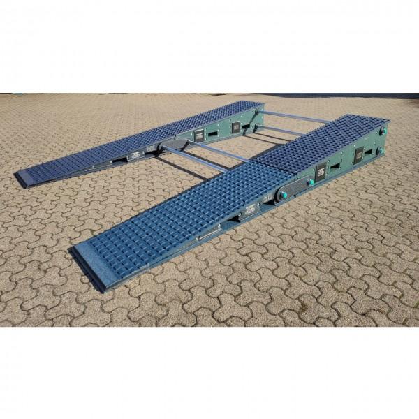 Schwerlastrampe 2 teilig. 4000 x 600 x 500 mm, mit Verbinder