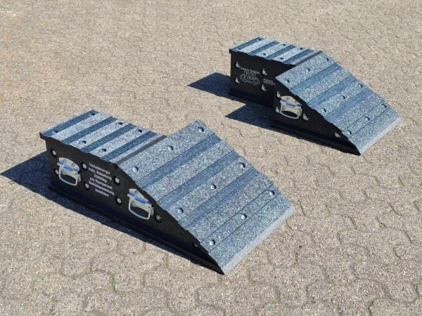 Auffahrrampe Set, 850 x 450 x 250 mm, links/rechts, ohne Kippschutz