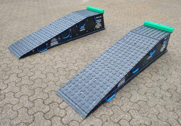 Auffahrrampe Set, 2 teilig pro Strang, 2100 x 500 x 400 mm, mit Podest