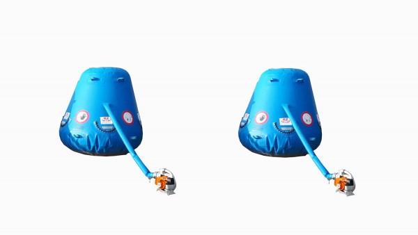2er Auffangkissen Catchbag Set mit 2 Gebläsen