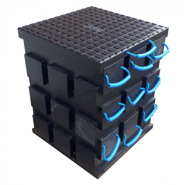 Abstützblock in Modulbauweise - erweiterbar